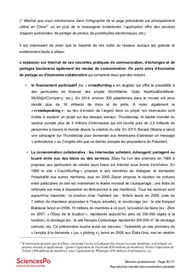 Mémoire professionnel – Page 26/117 Reproduction interdite sans autorisation préalable (* Wechat que nous mentionnons dans...