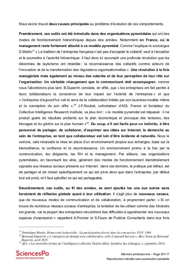Mémoire professionnel – Page 30/117 Reproduction interdite sans autorisation préalable Nous avons trouvé deux causes princ...