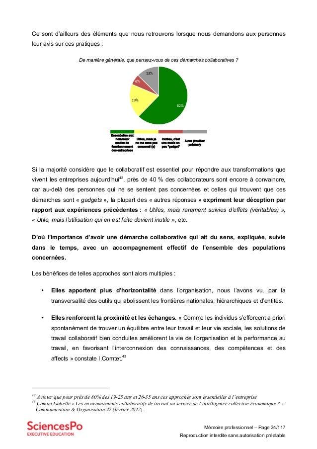 Mémoire professionnel – Page 34/117 Reproduction interdite sans autorisation préalable Ce sont d'ailleurs des éléments que...