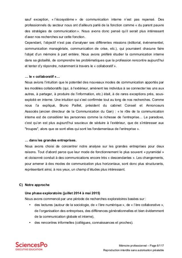 Mémoire professionnel – Page 8/117 Reproduction interdite sans autorisation préalable sauf exception, « l'écosystème » de ...