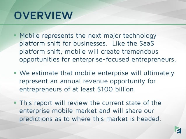Mobile Enterprise Trends 2015 - Emergence Capital Slide 2