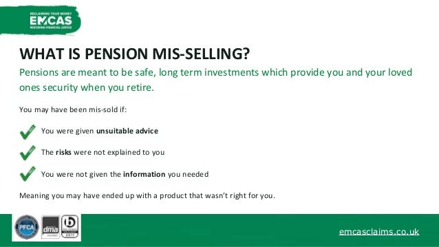 EMCAS Your Practical Guide To Mis Sold Pensions