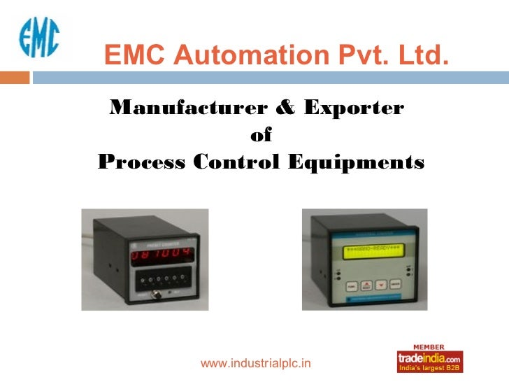 EMC Automation Pvt. Ltd. Manufacturer & Exporter            ofProcess Control Equipments             roto1234        www.i...
