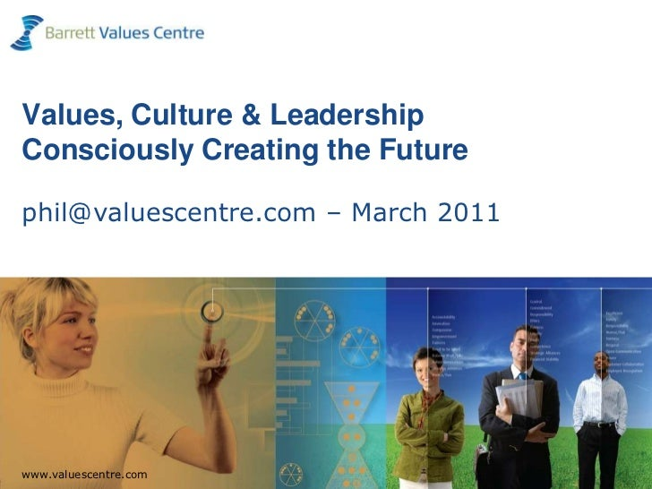 Values, Culture & Leadership Consciously Creating the Futurephil@valuescentre.com – March 2011<br />