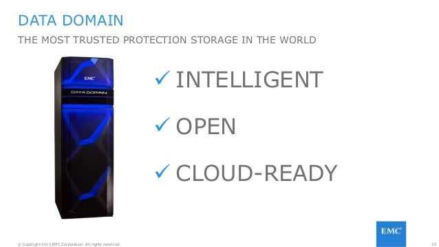 35© Copyright 2015 EMC Corporation. All rights reserved. DATA DOMAIN THE MOST TRUSTED PROTECTION STORAGE IN THE WORLD  IN...