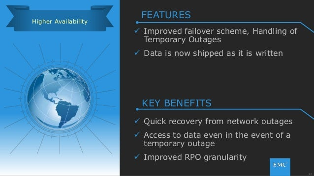20© Copyright 2015 EMC Corporation. All rights reserved.  Improved failover scheme, Handling of Temporary Outages  Data ...