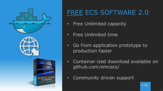 25© Copyright 2015 EMC Corporation. All rights reserved. FREE ECS SOFTWARE 2.0 • Free Unlimited capacity • Free Unlimited ...