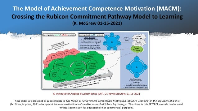 The Model of Achievement Competence Motivation (MACM): Crossing the Rubicon Commitment Pathway Model to Learning (K. McGre...