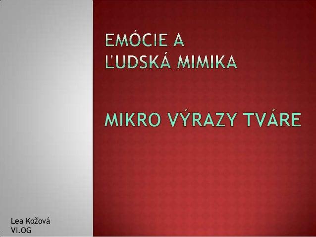 Lea Kožová VI.OG