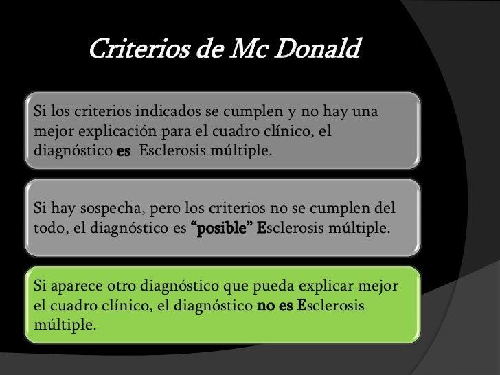 Resultado de imagen de criterios mcdonald