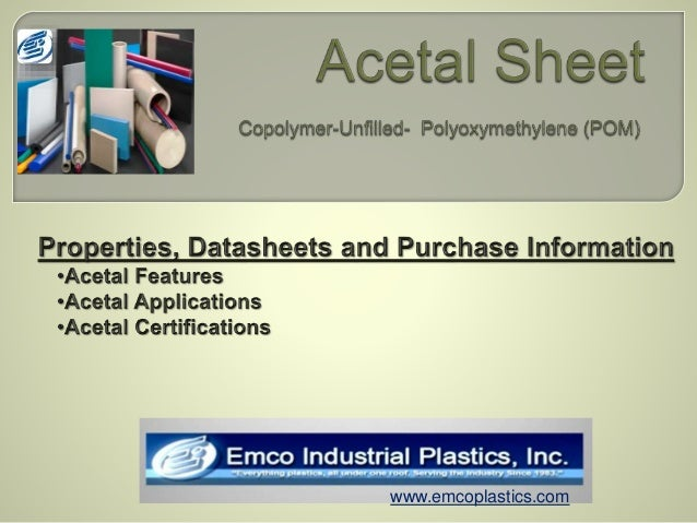 Acetal data sheet pacific west corporationpacific west corporation.