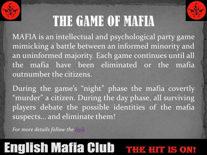 Mafia Game Rules Bolla