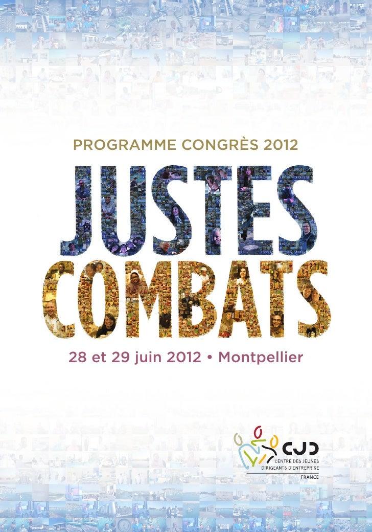PROGRAMME CONGRÈS 201228 et 29 juin 2012 • Montpellier               1