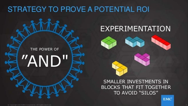 """5© Copyright 2015 EMC Corporation. All rights reserved. STRATEGY TO PROVE A POTENTIAL ROI THE POWER OF """"AND"""" EXPERIMENTATI..."""