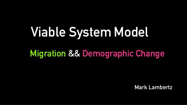 Migration && Demographic Change Viable System Model Mark Lambertz