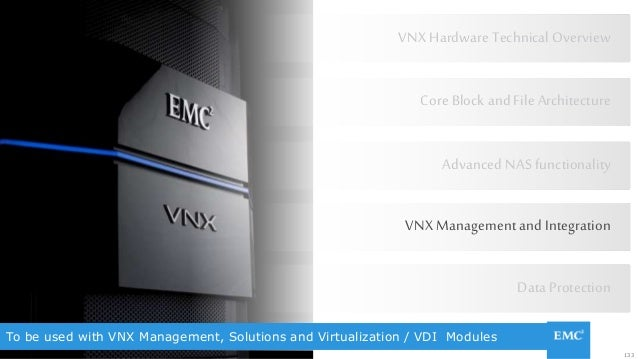 133© Copyright 2015 EMC Corporation. All rights reserved. To be used with VNX Management, Solutions and Virtualization / V...