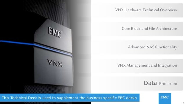 3© Copyright 2015 EMC Corporation. All rights reserved. This Technical Deck is used to supplement the business specific EB...