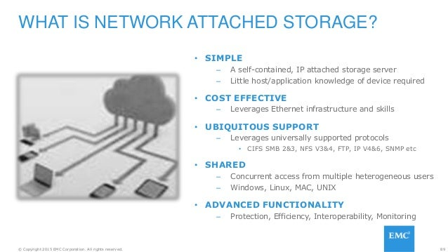 89© Copyright 2015 EMC Corporation. All rights reserved. • SIMPLE – A self-contained, IP attached storage server – Little ...