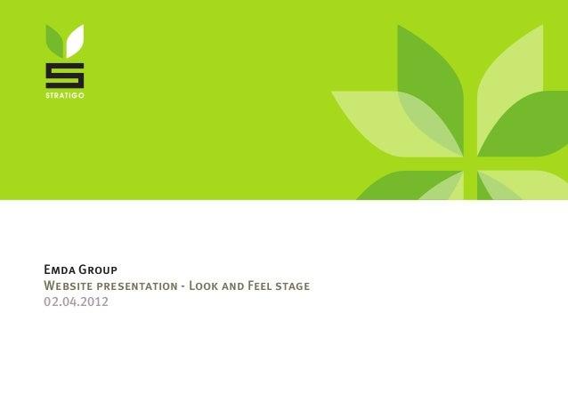 Emda Group Website presentation - Look and Feel stage 02.04.2012