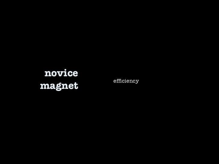 novice magnet efficiency