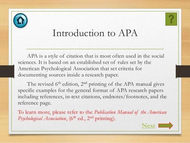 apa manual 6th edition 2nd printing pdf