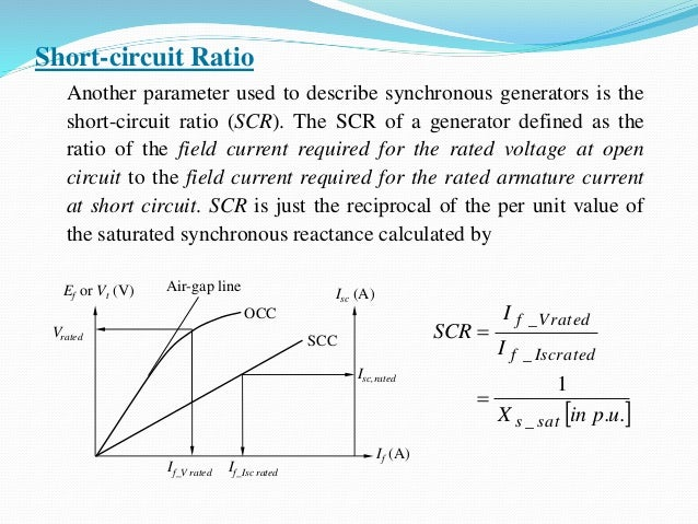 emec ii, unit 1short circuit ratio another parameter used to describe synchronous generators is the