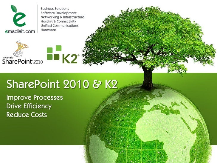 SharePoint 2010 & K2 Improve Processes Drive Efficiency Reduce Costs