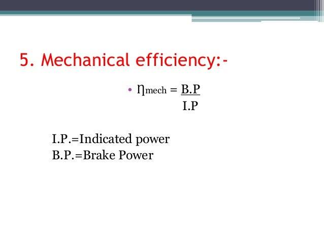 Formula of IC Engine
