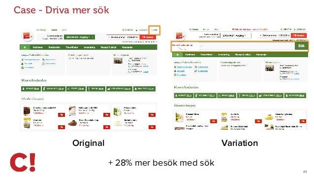 22 Case - Driva mer sök Original Variation + 28% mer besök med sök