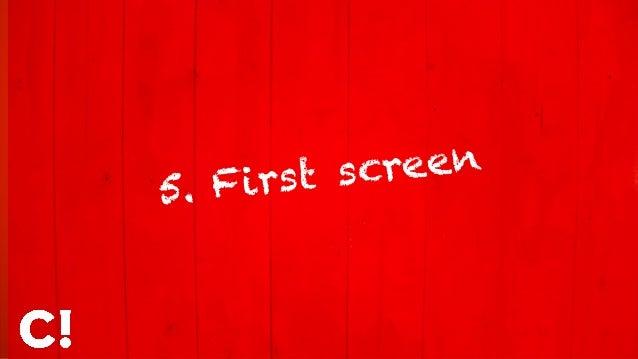 5. First screen