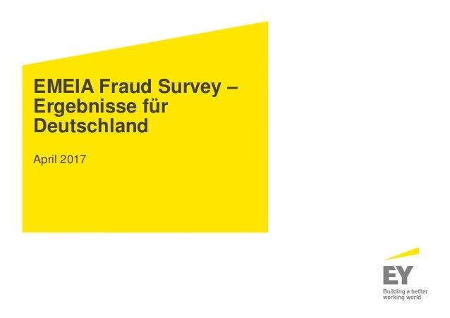 EMEIA Fraud Survey – Ergebnisse für Deutschland April 2017