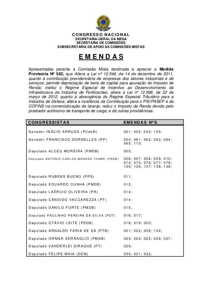 CONGRESSO NACIONAL                       SECRETARIA-GERAL DA MESA                        SECRETARIA DE COMISSÕES          ...