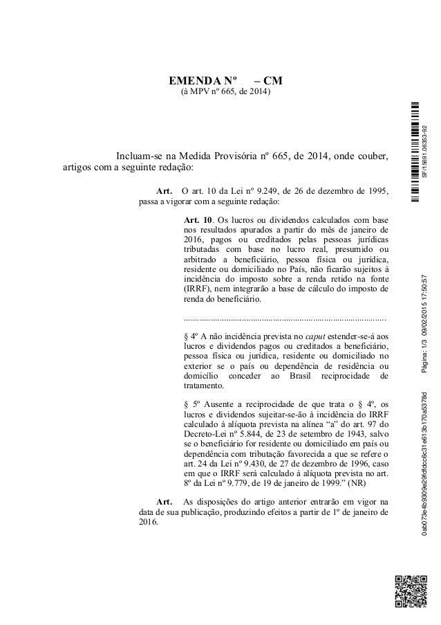 Emenda Imposto Sobre Remessas De Lucros Para O Exterior