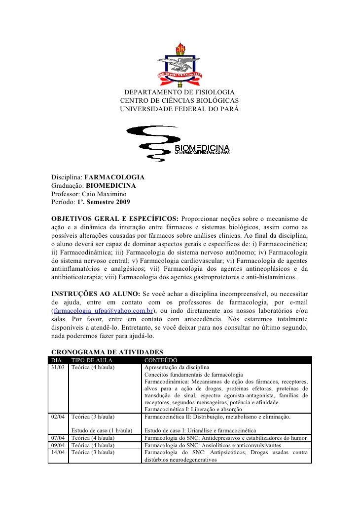 DEPARTAMENTO DE FISIOLOGIA                              CENTRO DE CIÊNCIAS BIOLÓGICAS                              UNIVERS...