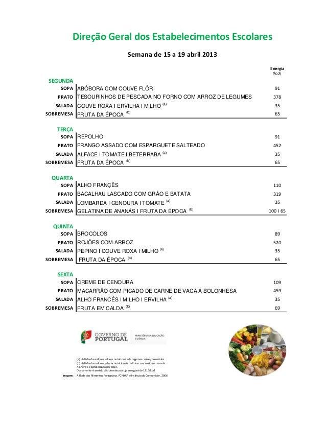 Direção Geral dos Estabelecimentos Escolares                                                           Semana de 15 a 19 a...