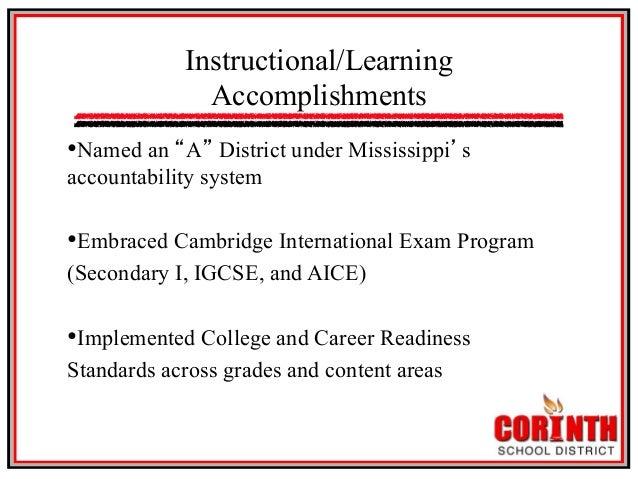 Corinth Education Summit - Jan. 23, 2014 Slide 3