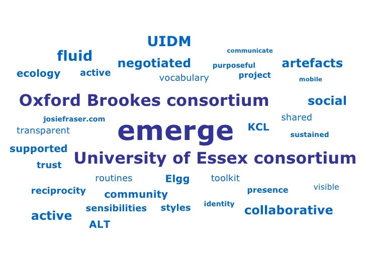 Oxford Brookes consortium emerge active shared collaborative mobile fluid supported purposeful negotiated trust transparen...