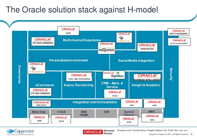 Emergence and transformation of digital utilities in the for Oracle cc b architecture