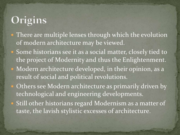 Modern Architecture Origin emergence of modern architecture ppt
