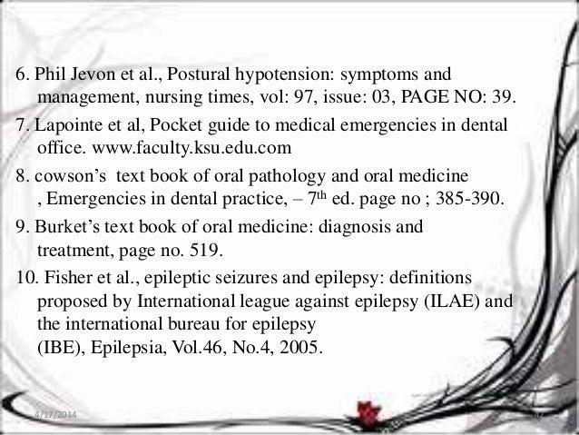 Medical emergencies in dental practice
