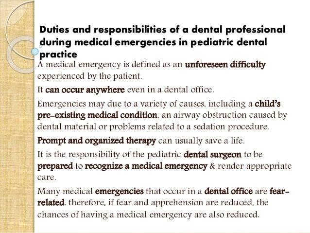 Emergencies in pediatric dental practice