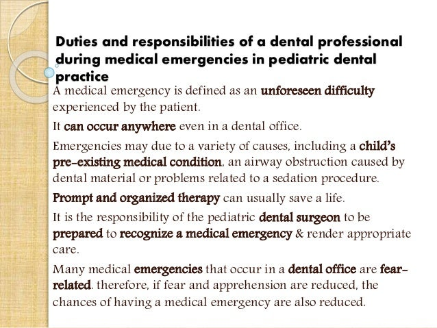 duties and responsibilities of a dental - Dentist Duties And Responsibilities