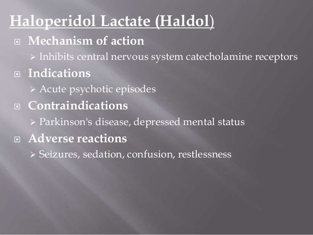 indications for haldol decanoate