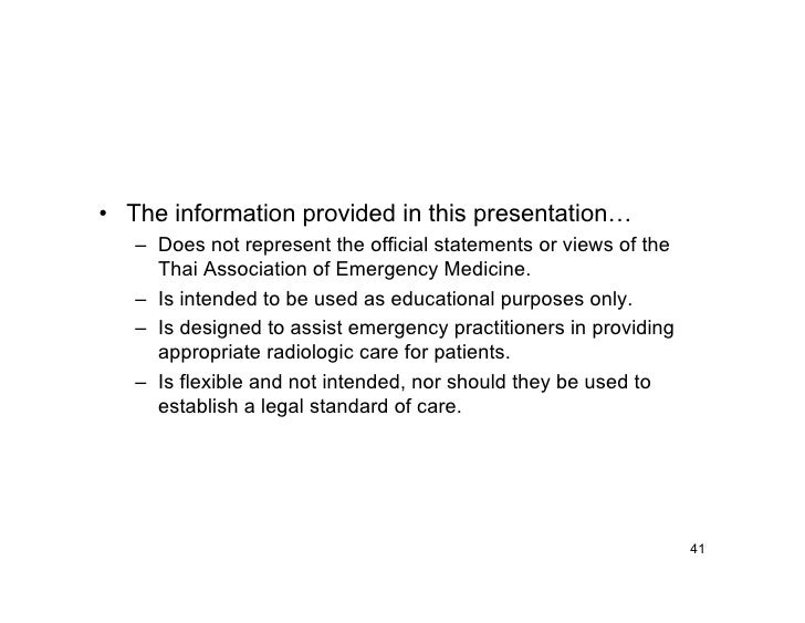 • The information provided in this presentation…    – Does not represent the official statements or views of the      Thai...