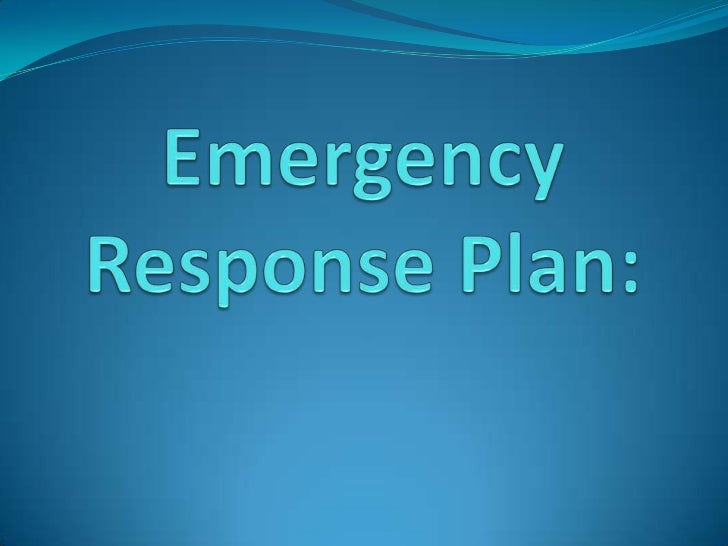 Overview Emergency Situations Planning Elements Developing a Plan Event-Specific Information Training Requirements