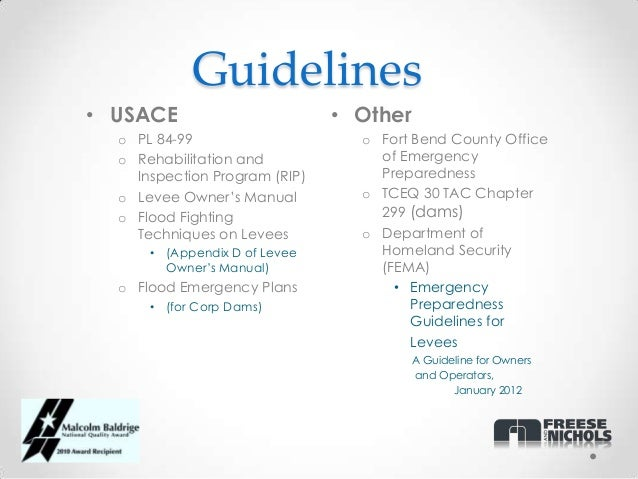 Emergency Action Plans Levee