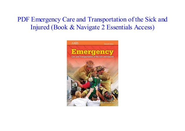 PDF Emergency Care And Transportation Of The Sick And