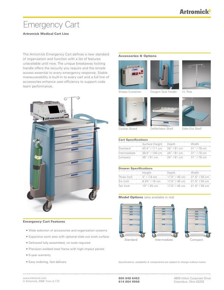 Emergency Cart Artromick Medical Cart Line     The Artromick Emergency Cart defines a new standard            Accessories ...