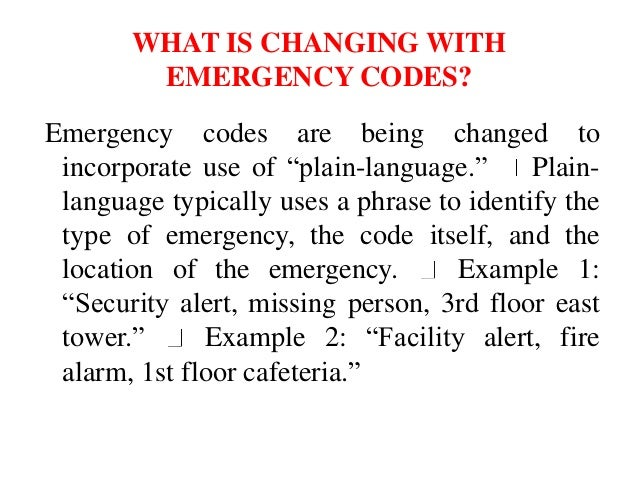 Emergency codes in hospital in india PPT