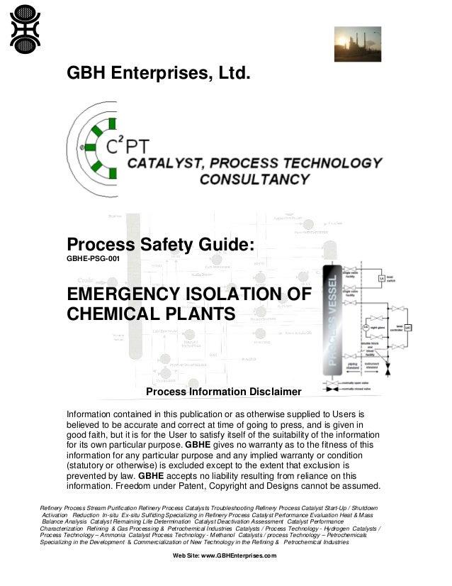 emergency isolation of chemical plants rh slideshare net Mangalore Refinery Petrochemicals LTD Petrochemical Refinery Process Chart